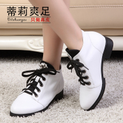 Tilly cool foot 2015 soft leather casual lace suede cowhide short fashion boots flat heel ankle boots shoes