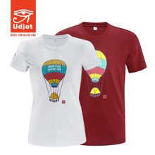 Udjat unbounded outdoor men and women leisure U151058 round collar cotton T-shirt with short sleeves