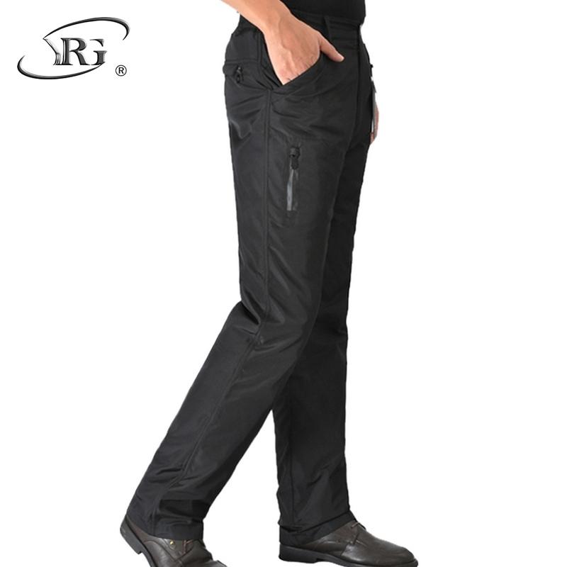 Брюки вниз мужчина верхняя одежда в пожилых мужской талия утка внутренний вкладыш может снять с себя ответственность случайный тонкий утолщённый сохраняющий тепло брюки