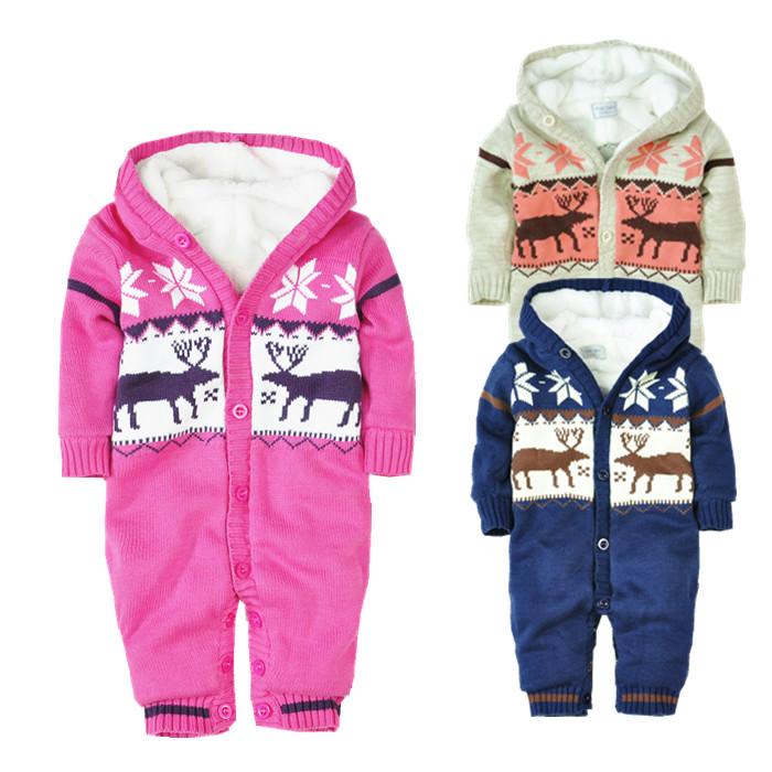 Оригинальные детские французской внешней торговли палевый пальто для Рождества загружен Комбинезоны HA одежда восхождение Одежда свитер для износа осень/зима