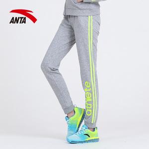 安踏女裤运动长裤 2016春季新款正品针织运动缩口小脚裤16617772
