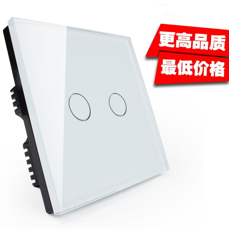 Коммутатор Smart панель/touch Главная touch лампы 86 выключатель розетка один управляемый путь/закаленное стекло