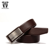 Wan Lima fall 2015 new automatic buckle belts men's leather fashion trends casual Korean version of genuine leather belt