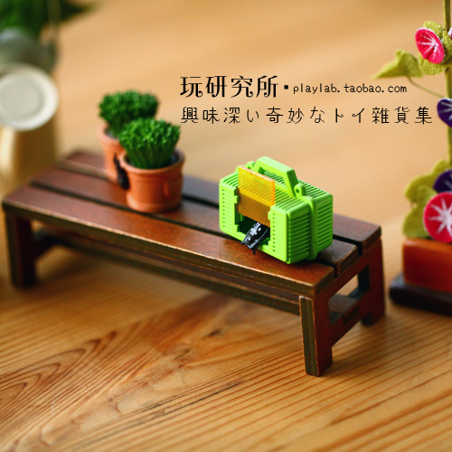 Old wood color Mini bench Baby House Furniture food game BJD shooting props 8 points 12 points