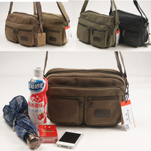 Package mail long wei new canvas oblique satchel cowboys single shoulder bag, leisure bag institute wind small bag, pure color cycling