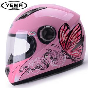 野馬冬季摩托車頭盔女士全覆式四季機車防霧全盔保暖電動車安全帽