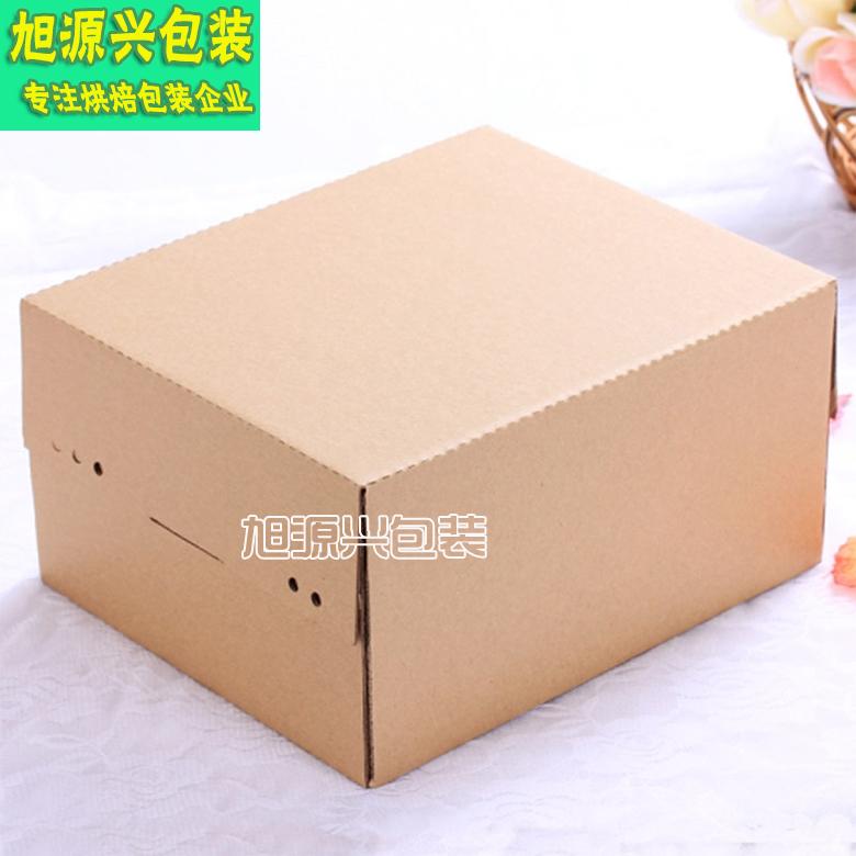 带装刀叉内格蛋糕盒/无印刷环保西点盒/长方形蛋糕盒/10寸送内托