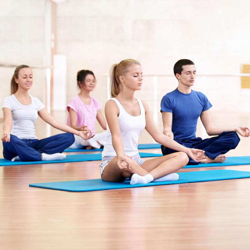 NBR加寬61cm瑜伽墊加厚健身墊初學無味防滑仰臥起坐墊瑜珈墊正品