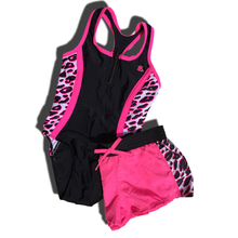 Foreign trade the original single girls big yards one-piece two-piece ensemble package mail conjoined at the children swimming suit
