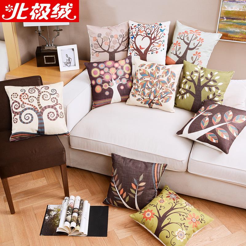 北極絨抱枕辦公室腰靠客廳沙發汽車腰枕簡約英倫風格靠墊含芯抱枕