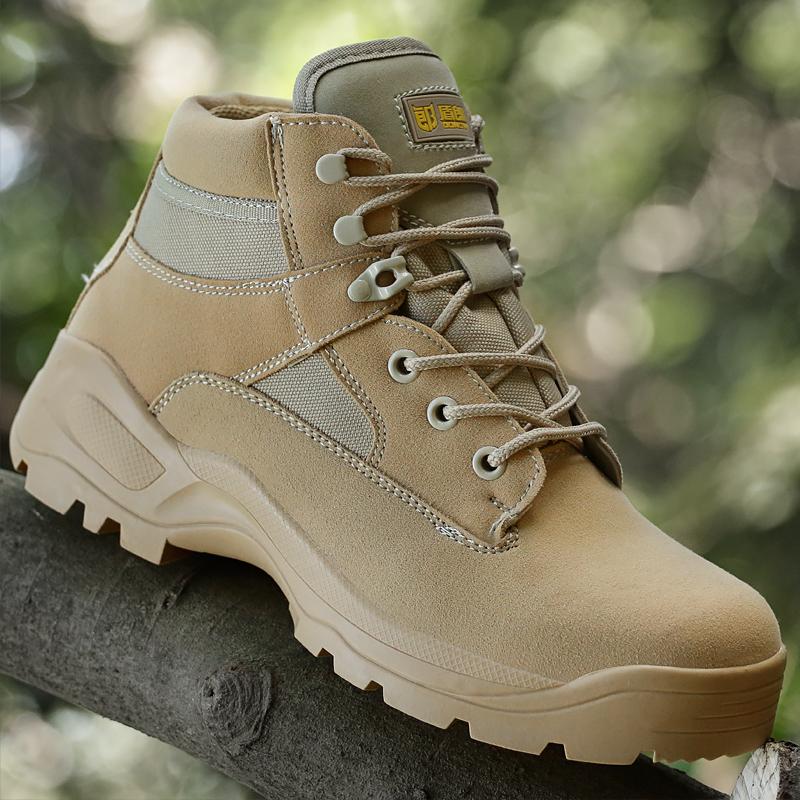 盾郎軍靴軍鞋作戰靴戰術靴登山靴陸戰靴沙漠靴男特種兵 低幫超輕