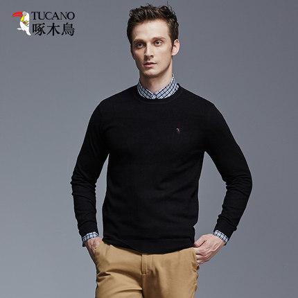 啄木鸟 新款男士羊毛衫 100%纯羊毛