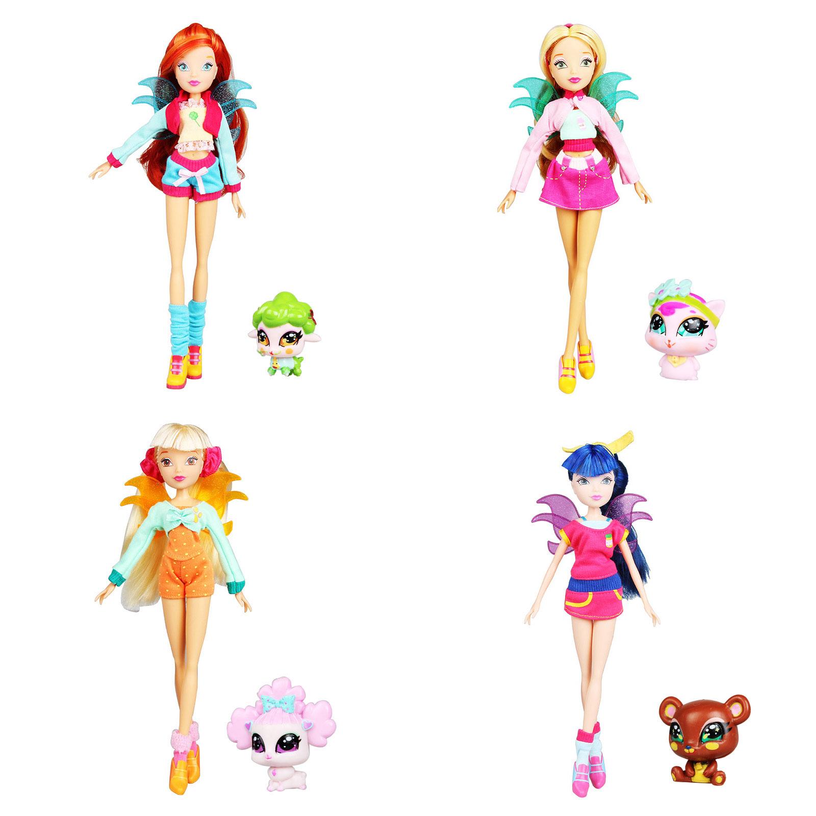 奥迪双钻winx club魔法俏佳人 仙宠物人偶娃娃女孩礼物蕾儿芙罗拉