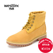 Westlink/West 2015 winter new outdoor casual tie men's boots leather stitching, overall boot