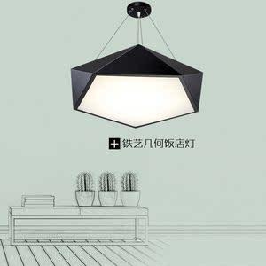 创意个性LED餐厅吊灯北欧简约客厅灯具现代办公会议室写字楼吊灯
