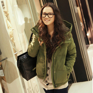Clearance XL fat mm tide winter 2015 women s cotton plus fat sister down a short section of thick padded jacket