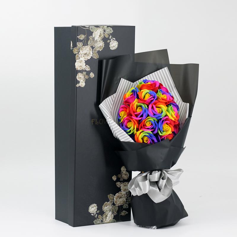 肥皂花玫瑰花礼盒创意礼品香皂花束