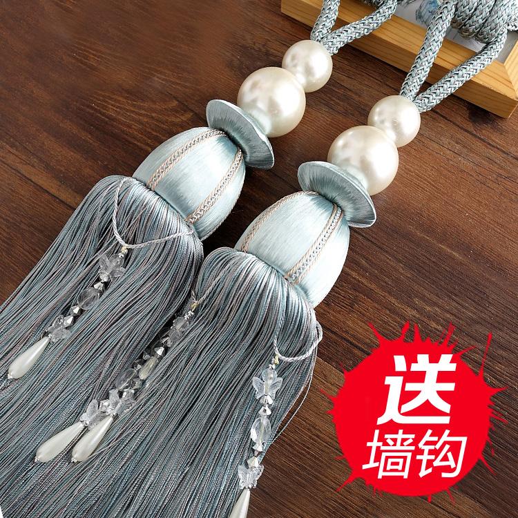 窗帘扣挂球绑带捆绑绳子扎带束带创意一对饰品挂钩欧式花简约现代
