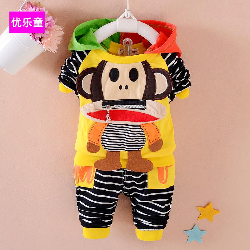 春秋男童女寶寶 兩件套