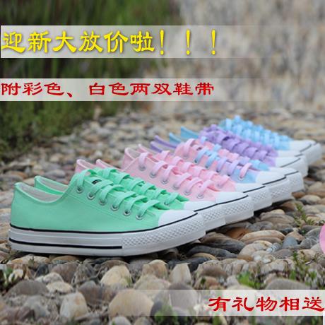Низко вырежьте кружева ручной росписью конфеты цветные кроссовки Harajuku обувь женская обувь Обувь студентов флуоресцентные цвета градиента email Pack