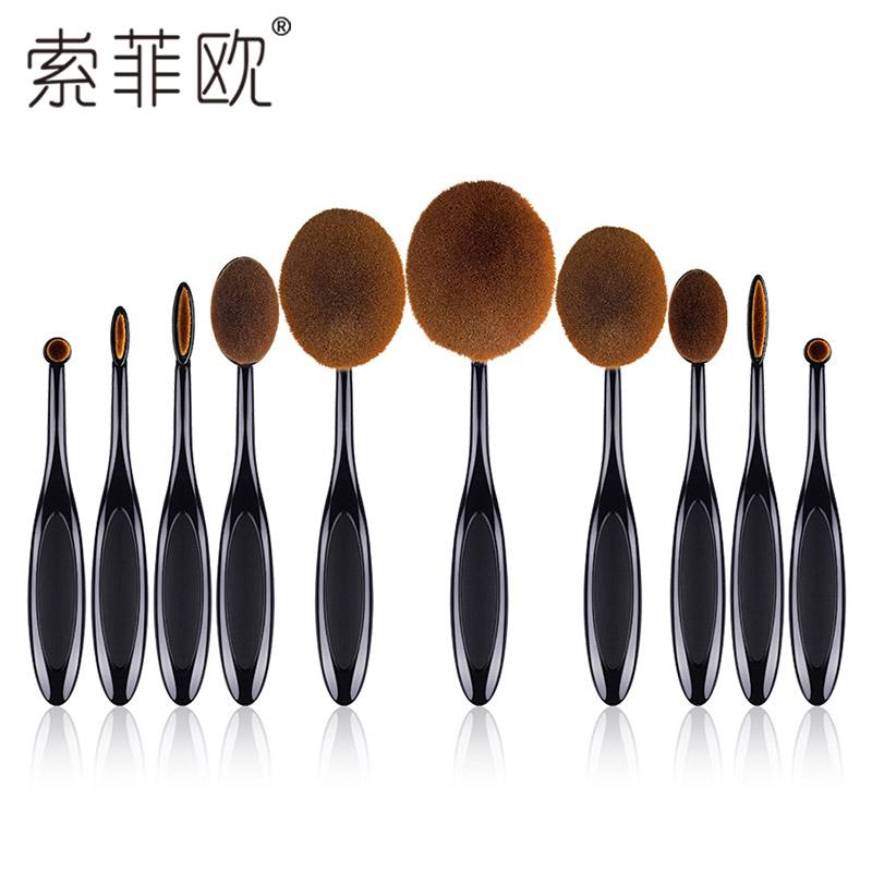 Софи-Европейский макияж кисти комплект 10 полный макияж кисти макияж кисти кисти установить начинающих инструменты