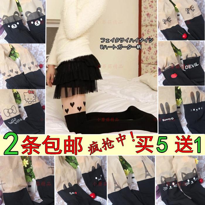 Весна и осень японская мозаика высокие длинные шелковые чулки, чтобы чулки колготки бедра тонкий колено носки для маркетинга