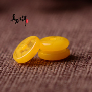 Chicken yellow resin synthesis high like beeswax beeswax spacer loose beads spacer beads DIY bead Bodhi blending isolation accessories