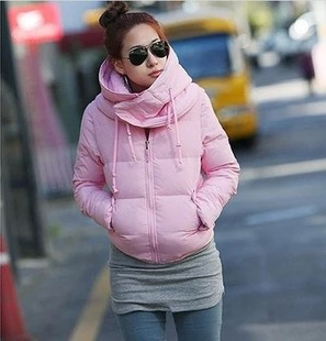 2015 new special winter coat lovely princess pink down jacket women both Chuanduan
