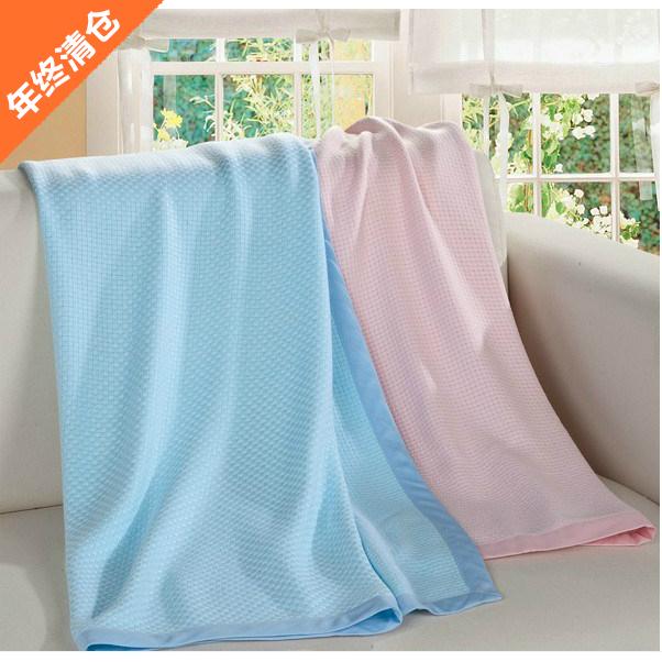 艾娜骑士 婴儿竹纤维薄毯 宝宝毯子 新生儿盖毯 夏季款儿童空调毯