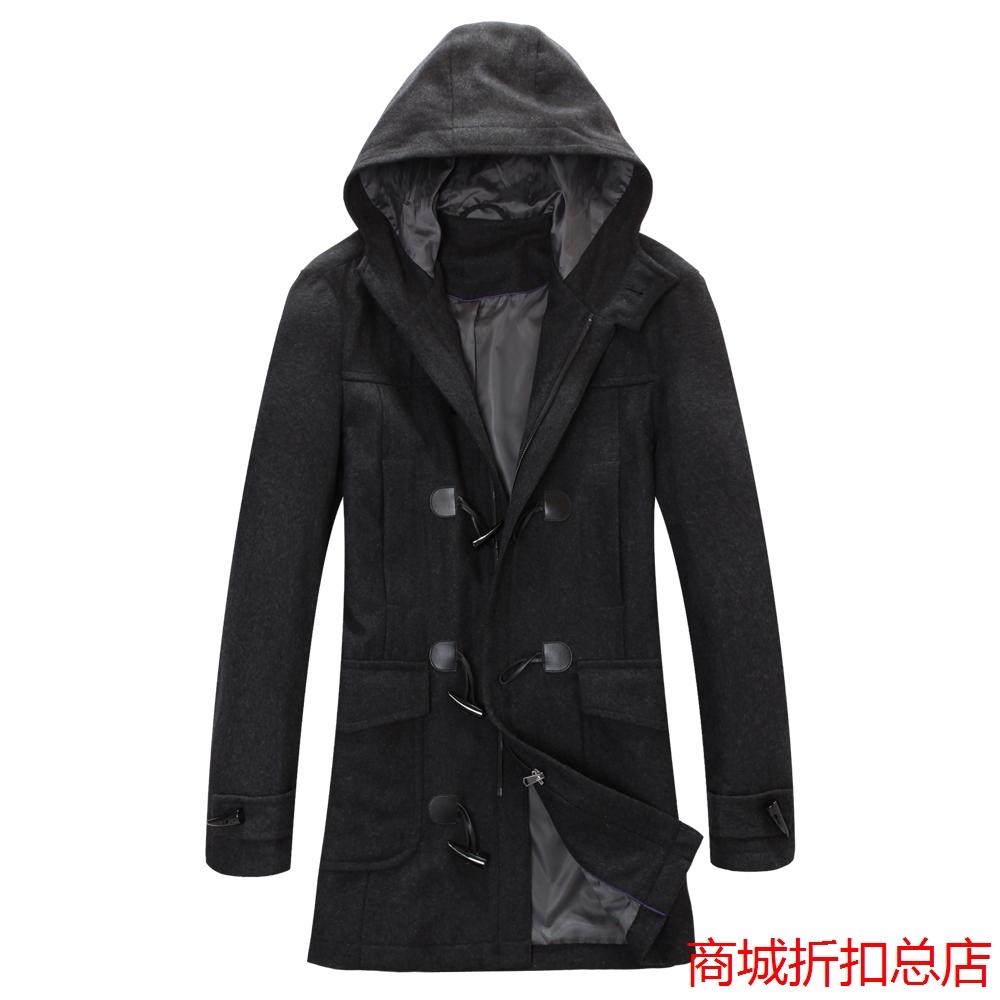 Специальное предложение Распродажа HL весны мужской одежды бренда Мужская плюс размер плюс размер с капюшоном Длинные шерстяные пальто куртки M029