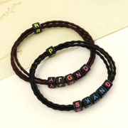 Know NI the Korean version alphabet multilayer rubber band Flower hair tie rope end high elastic hair accessories hair band tiara