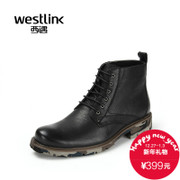 Westlink/West end of 2015 winter New England tide leather strap Camo boots Ma Dingnan boots