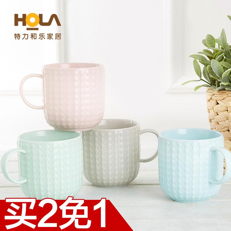 HOLA специальный сила спокойный музыка рельеф кружка цвет глазурь керамика чашка кружка любители творческий чашки чашка