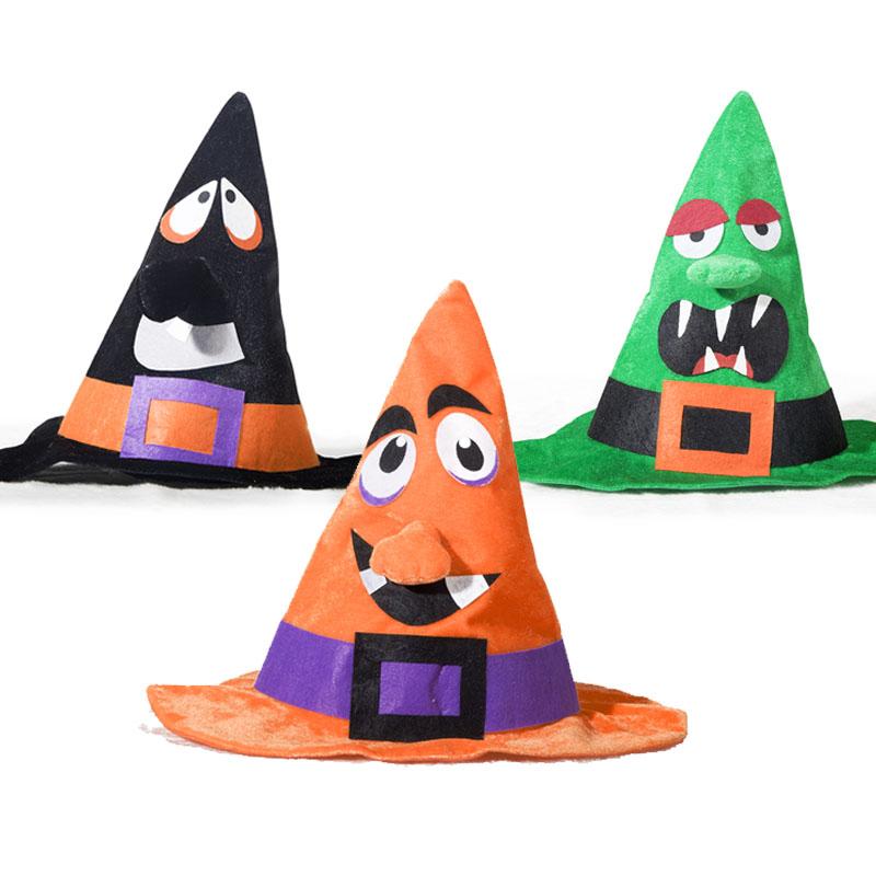 万圣节帽子巫师帽cos装扮配饰化妆舞会服装派对儿童巫婆帽成人女