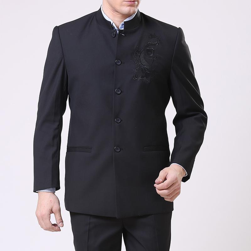 Специальное предложение среднего и старые возрасте Мужские костюмы костюм китайский воротник костюма весной и осенью отец Свободная туника костюм мешок почта