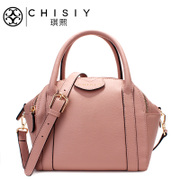 Qi Xian leather women bag handbag woman bags fall 2015 the new pure color simple layer cowhide Crossbody