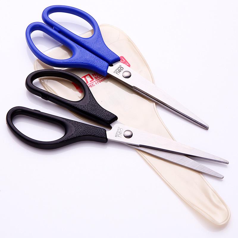 得力文具0603不锈钢剪刀 170mm办公学生剪刀 剪纸刀 财务办公用品