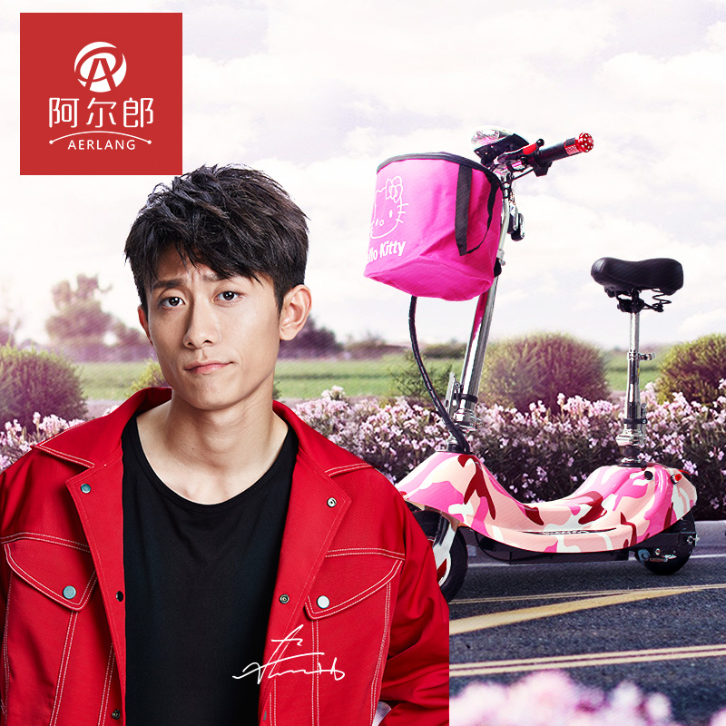 Аль мужчина дельфин мисс легкий мини электромобиль сложить электрический скутер поколение автомобиль аккумуляторная батарея велосипед