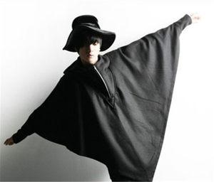 韩版蝙蝠衫秋冬季潮流男装学生长袖套头连帽卫衣外套披风斗篷上衣