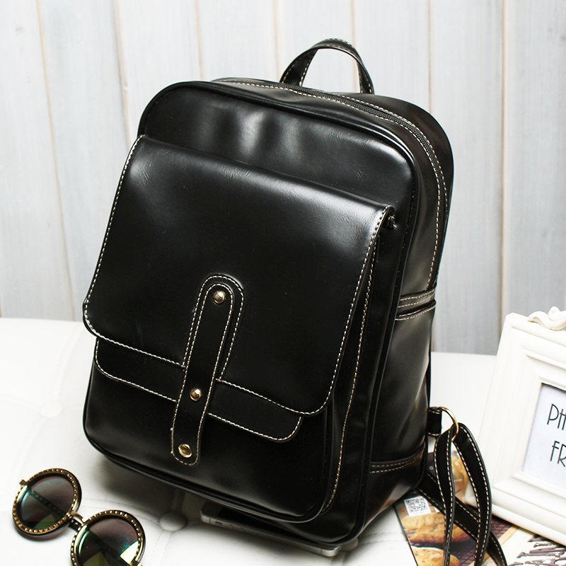 fbef37eff10f Free shipping new Korean version of the new shoulder bag female college  wind retro British female PU leather handbag bag tide backpack - Taobao  Depot