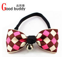 The ancient ba's/good buddy blasting models, Japan and South Korea checkered bowknot pet tie pet collar dog