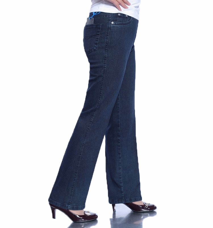 Special price for middle-aged and elderly womens trousers high waist straight tube jeans middle aged mothers womens wear plus size womens casual pants