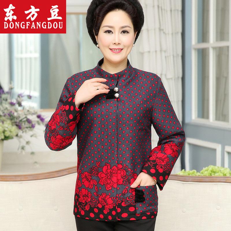 中老年女裝冬裝棉衣 女士唐裝棉襖 媽媽裝中國風棉服外套