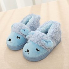 The new winter 2015 children cotton slippers home private bag with cute cartoon cotton shoes non-skid warm shoes