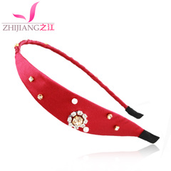 Zhijiang headband rhinestone Korea sweet wild Pearl headband hair accessories hair clip hair bangs clips Japan and South Korea head ornaments