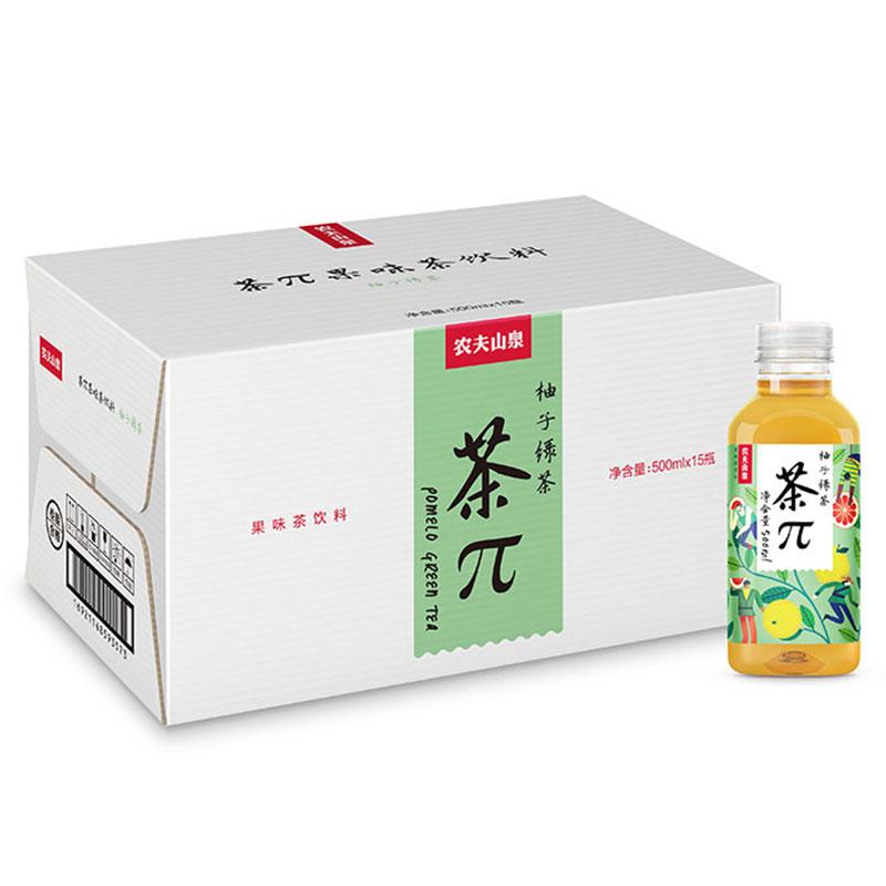 農夫山泉 茶 pi 柚子綠茶 500ml~15瓶 茶派飲料