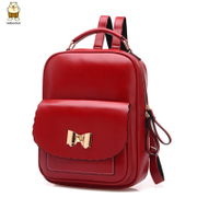 Amoy fashion 2015 summer school of Korean version of red wine new Backpack Backpack wind woman bag backpack bag