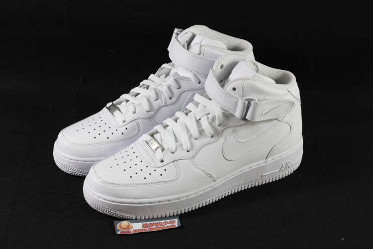 正品 耐克NIKE AIR FORCE 1 MID空军一号全白男子板鞋 315123-111