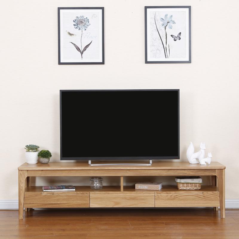 木语新舍原木色风格客厅家具地柜北欧实木电视柜白橡简约1.5/1.8