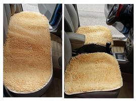 雪尼尔毛毛虫汽车坐垫子三件套防滑七座无靠背毛绒单片冬四季通用